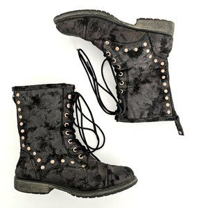 Roxy Concord Western Vegan Lace-up Combat Boots